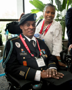 Veteran and PALS Andrew Williams, and wife Antoinette Williams