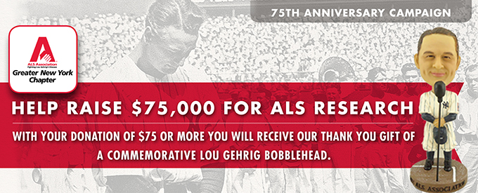 Lou Gehrig Bobble Head Statue